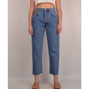 Calvin Klein Vintage High Waisted Cropped Jeans